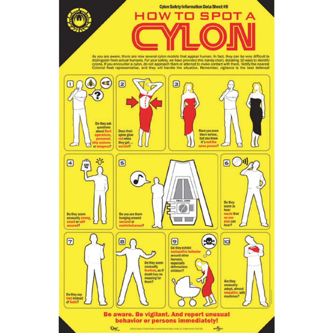 How To Spot a Cylon Poster | getDigital