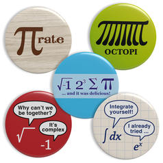 Geek Buttons Mathematics Theme