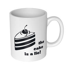The Cake Is A Lie Mug