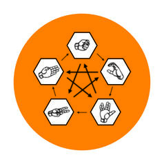 Geek Sticker Paper Scissors Lizard Spock
