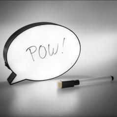 Magnetic Speech Bubble Light