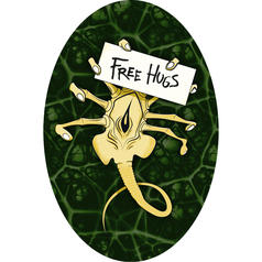 Free Hugs Facehugger Sticker