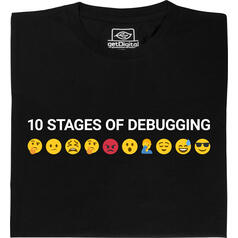 10 Stages of Debugging T-Shirt