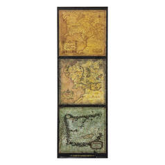 The Lord of the Rings Door Poster Maps of Middle Earth