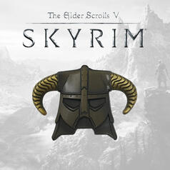 The Elder Scrolls Skyrim Dragonborn Helmet Limited Edition Pin Badge