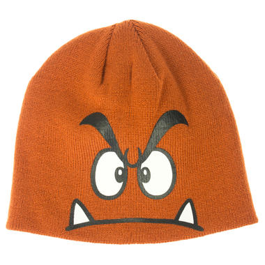 c9b76460e5c ... Beanie with the imprinted face of Goomba. r